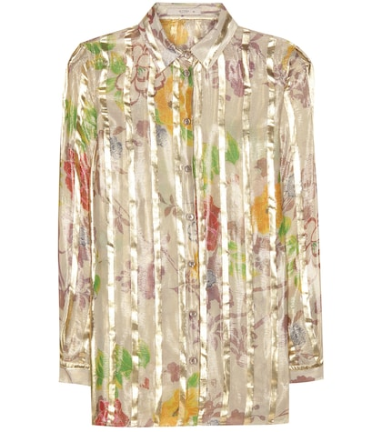 etro female printed silk shirt