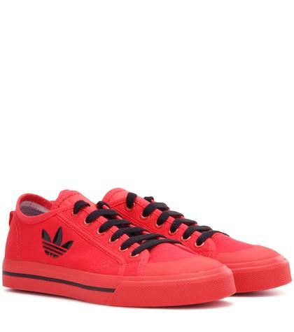 adidas by raf simons female matrix spirit low canvas sneakers