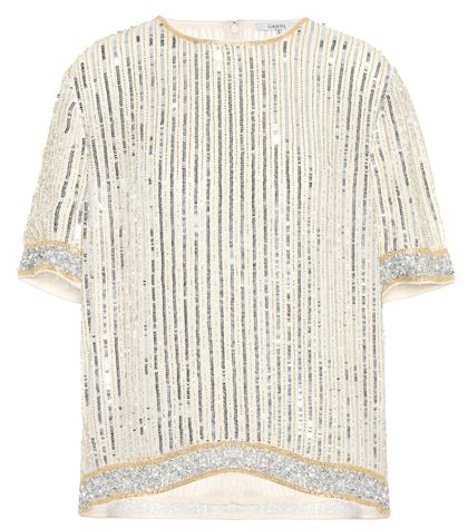 Temple sequin-embellished top