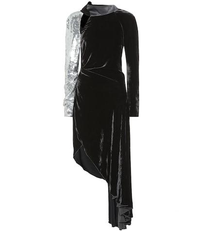 Sequined velvet dress