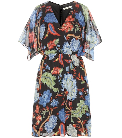 Cay Batwing Printed Wrap Dress