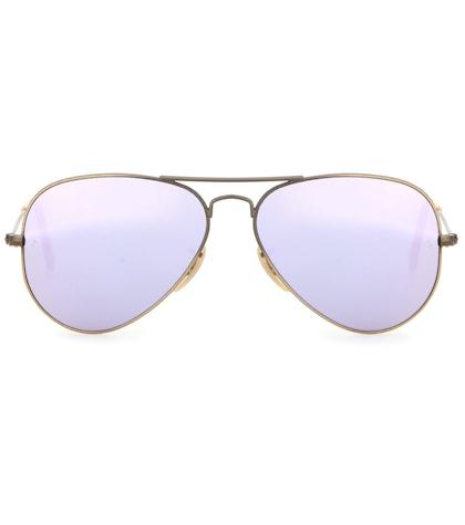 ray ban female 248826 rb3025 mirrored aviator sunglasses