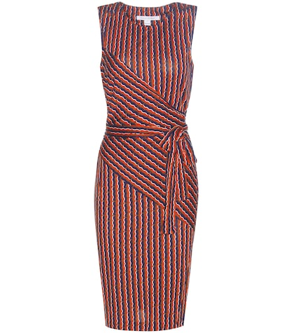 diane von furstenberg female ashlie printed silk wrap dress
