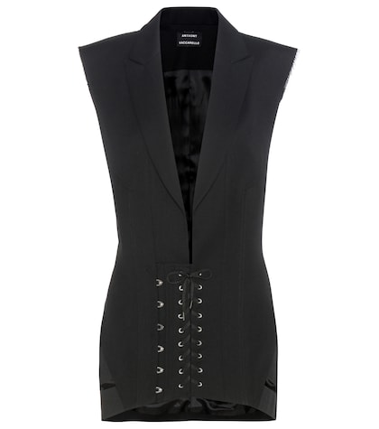 anthony vaccarello female wool dress