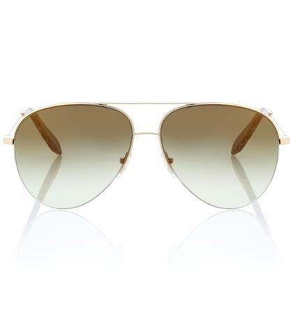 victoria beckham female classic victoria mirrored sunglasses