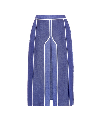 Kent Linen And Wool-blend Skirt