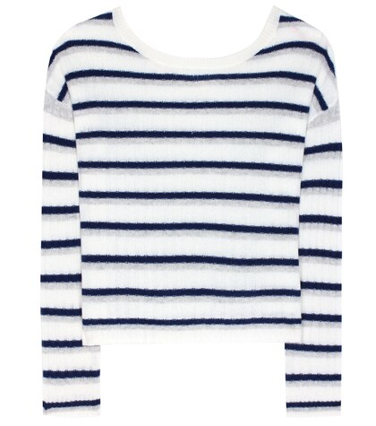 81hours female calanta striped cashmere sweater