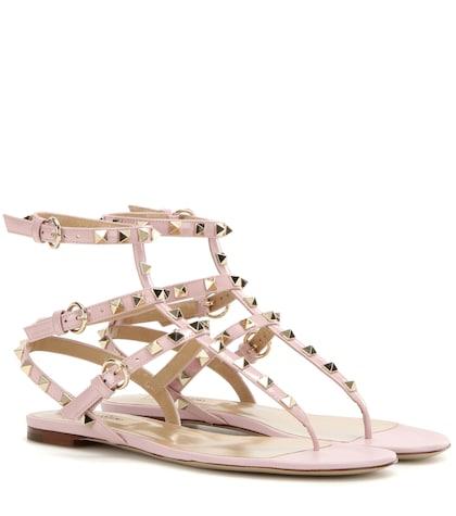 Rockstud Patent Leather Sandals