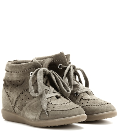 Photo of étoile Bobby Concealed Wedge Suede Sneakers Isabel Marant online