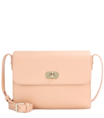 apc female greenwich leather shoulder bag
