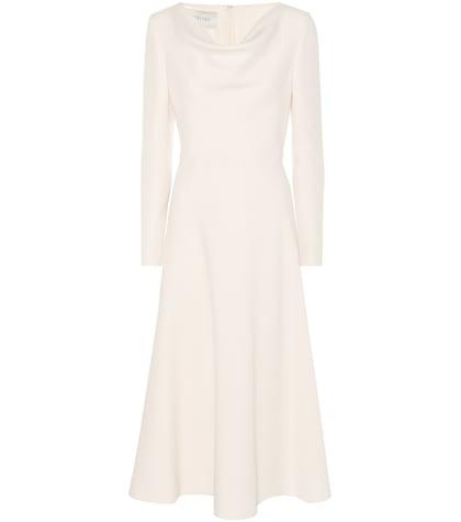 Virgin Wool And Silk Midi Dress