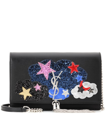 Kate Chain Wallet Embellished Leather Shoulder Bag