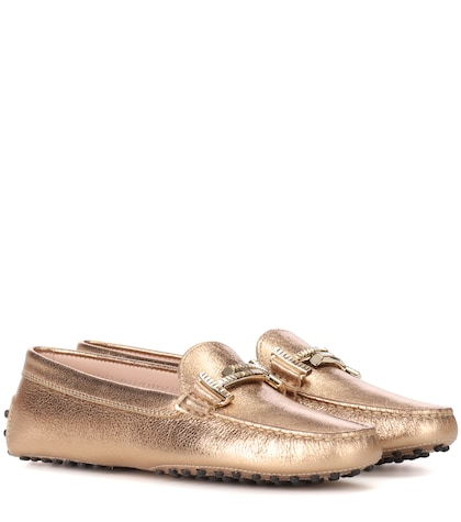 Gommini Double T leather loafers