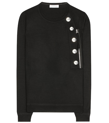 altuzarra female collier embellished wool sweater