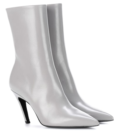 balenciaga female leather ankle boots