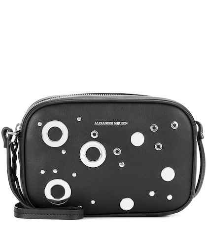 Studded leather crossbody bag