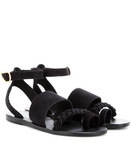 ancient greek sandals female agni suede sandals