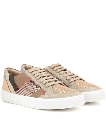 Salmond Fabric And Leather Sneakers