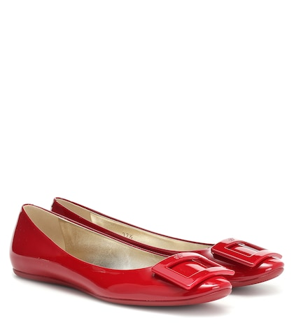 Gommette patent leather ballerinas
