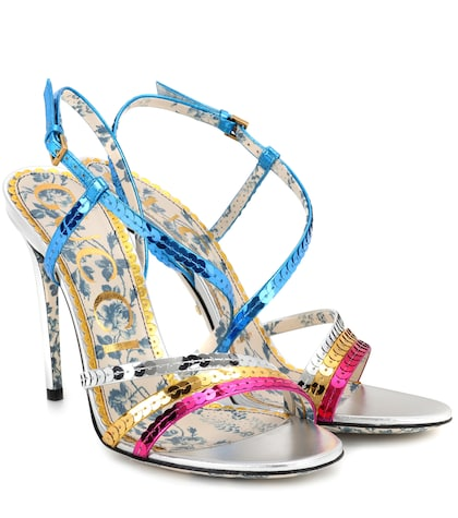 Sequinned sandals