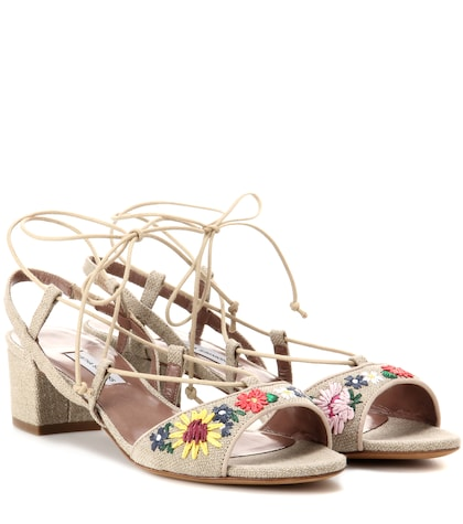 Photo of Lori Meadow Embroidered Sandals Tabitha Simmons online