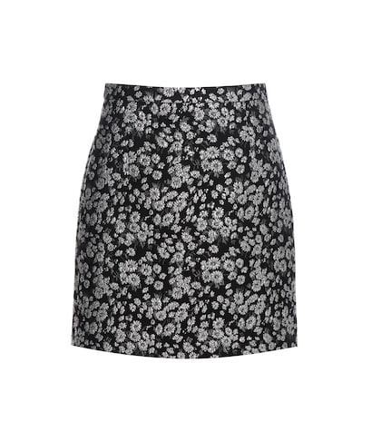 Metallic Jacquard Wool-blend Skirt