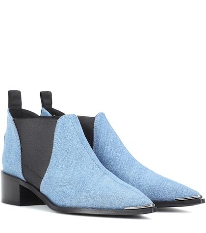 Jenny denim ankle boots