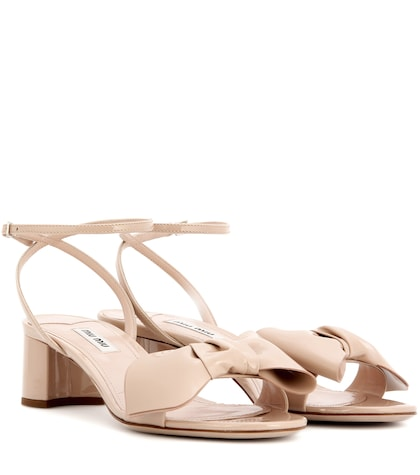 miu miu female leather sandals