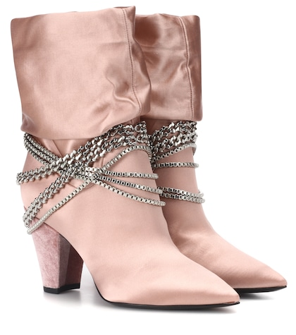 Bottines en satin Sadie