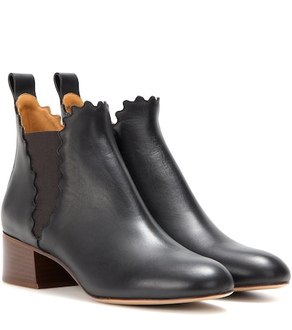 Lauren leather ankle boots