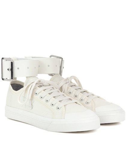 adidas by raf simons female spirit buckle canvas sneakers