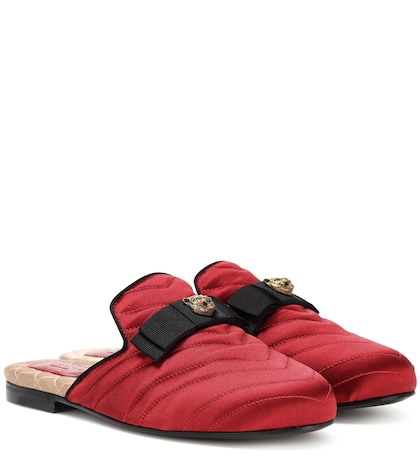 Princetown satin slippers