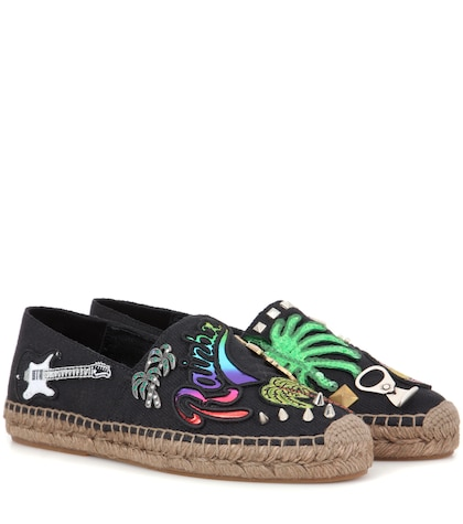 marc jacobs female embellished espadrilles