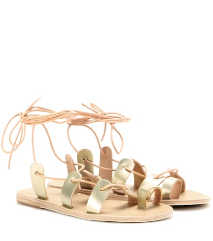 Alcyone Metallic-leather Sandals