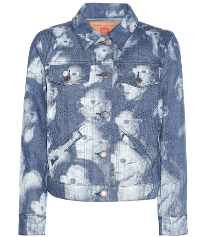 marc jacobs female printed cotton jacket