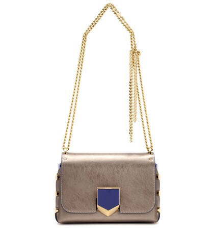 jimmy choo female lockett petite metallic leather shoulder bag