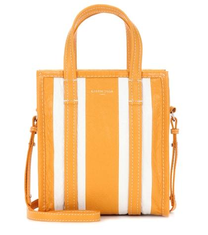 Bazar Shopper Xs Striped Leather Shopping Bag