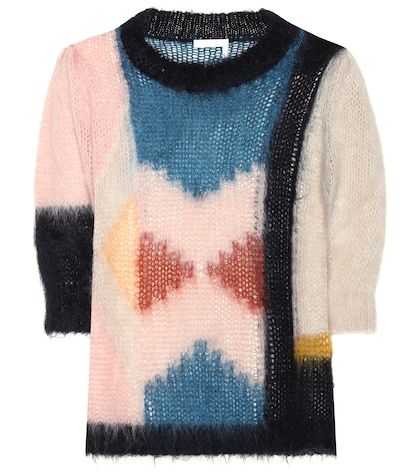 Knitted mohair-blend sweater