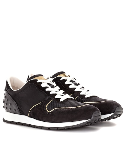 Sportivo suede and fabric sneakers