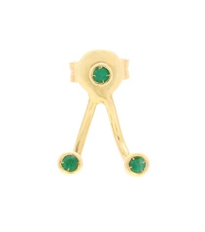 aliita female trio esmeralda 9kt gold and emerald earring