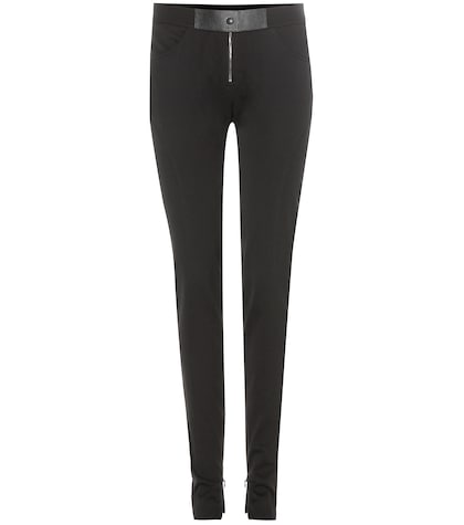 Pantalon slim en laine stretch