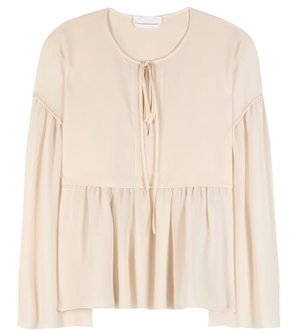 chloe female cotton and silk blouse