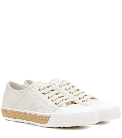 tods female cassetta leather sneakers