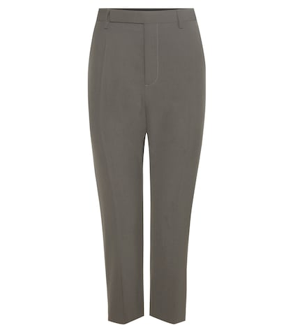 rick owens female 45906 crepe cropped trousers