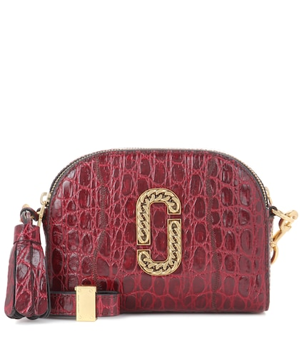 marc jacobs female shutter small embossed leather shoulder bag