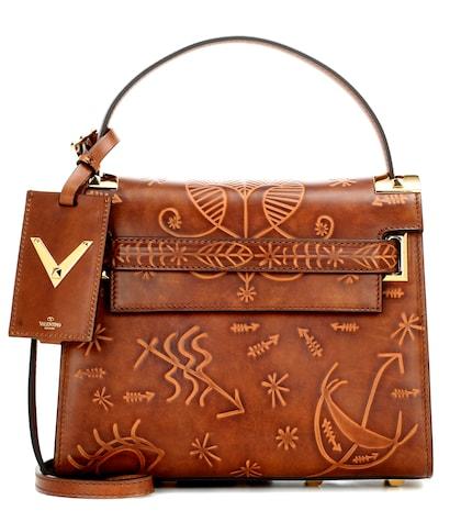 Valentino Garavani My Rockstud Small Embossed Leather Shoulder Bag