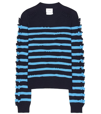 Breton-striped cashmere sweater