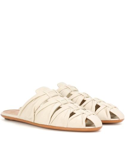 Capri leather slippers