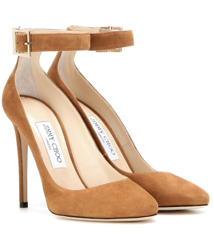 jimmy choo female helena 110 suede pumps