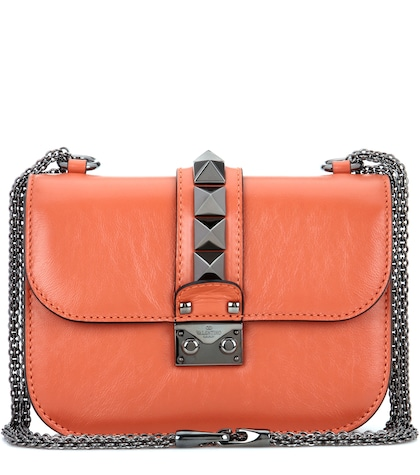 valentino female 240769 lock small leather shoulder bag